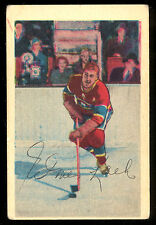 1952 53 PARKHURST HOCKEY #6 ELMER LACH VG-EX MONTREAL CANADIENS card