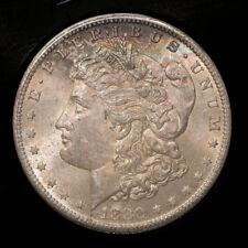 1880-S $1 Morgan Silver Dollar Choice BU Smokey Gold Tone Strike! Free S/H *2839