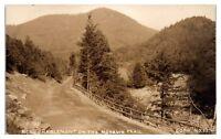 RPPC Mohawk Trail near Charlemont, MA Real Photo Postcard