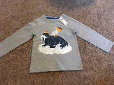 Baby Gap Toddler Boy 3T Animal Print Tee Long Sleeve Top  Gray Msrp$20 NWT