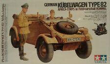 Tamiya 1/16 scale kit 36202, German Kubelwagen Type 82. Afrika Korps w/Rommel
