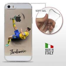 iPhone 5/5S/SE COVER PROTETTIVA GEL TRASPARENTE Calcio Soccer Zlatan Ibrahimovic