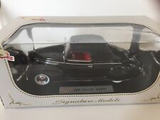 1/18 SIGNATURE MODELS 1939 LINCOLN ZEPHYR BLACK with RED INTERIOR New In Box