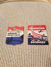 Hawaiian Airlines Luggage Stickers, set of 2