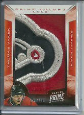 THOMAS VANEK 4 COLOR LOGO PATCH #/28 GAME WORN 2012-13 PANINI PRIME HOCKEY
