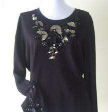 Women Knit Blouse By Philippe Carat Size XXXL Black Color