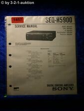 Sony Service Manual SEQ H5900 Graphic Equalizer  (#1457)