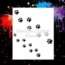 Paw Prints Walking  Airbrush Stencil,Template