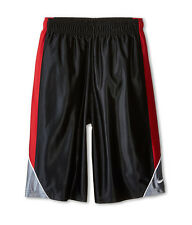 Nike Boy's Youth Basketball Shorts Sz S Black/Red/Grey 678461-010 FREE SHIPPING