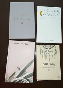 3 Journals Pregnancy, Baby, Self-Care + 25 Birth Announcements Bundle Lot New