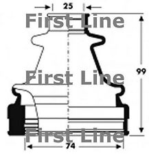 FCB2798 FIRST LINE CV JOINT BOOT KIT fits Ford Mondeo III - Inner