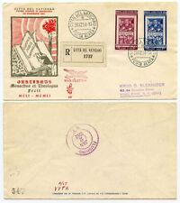 VATICAN>USA 1952 REGISTERED AIR MAIL VENETIA FDC FOR THE GRATIANUS PAIR