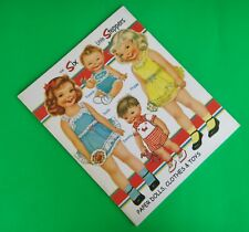 New Paper Dolls The Six Little Steppers
