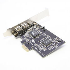 PCIE PCI-E Firewire IEEE 1394 2+1 3 Port Card Work With Windows 7 New