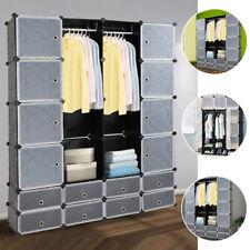 DIY Kleiderschrank Steckregal mit Türen Regalsystem Kleiderschrank Garderobe