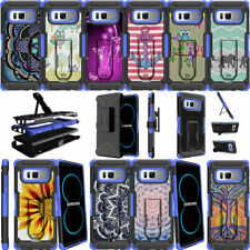 For Samsung Galaxy Note 8 N950 (2017) Blue Case Holster Belt Clip Stand Cover