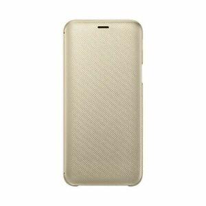 Original Genuine Samsung Galaxy J6 2018 Gold Flip Wallet Cover