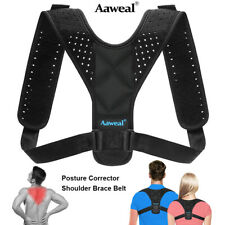 Adjustable Posture Corrector Support Back Shoulder Belt Strap Brace Unisex