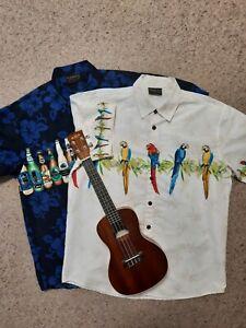 2 X Lowes Mens Hawaiian Shirts L