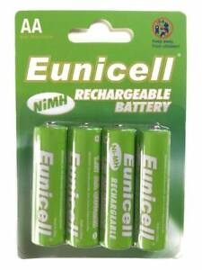 AA 600 mAh Rechargeable Batteries 1.2v Ni-MH solar light cordless phone Eunicell