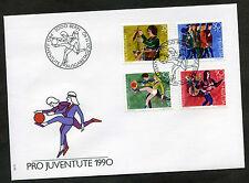 """Schweiz 1990 FDC Mi-Nr. 1431-1434 """"Pro Juventute"""": Entwicklung des Kindes"""