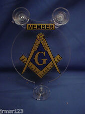 F&AM -FREE AND ACCEPTED MASONS  MASONIC CAR SHIELDS, MEMBER OR FAMILY MEMBER