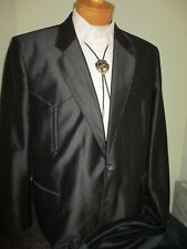 NWT New BUFFALO COUNTRY Men's Western Black SUIT 44R 36x31
