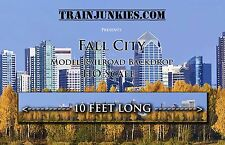 "TrainJunkies HO Scale ""Fall City"" Model Railroad Backdrop 18x120"""