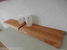 2x Wandboard Kirschbaum Massiv Holz Board Regal Steckboard Regalbrett Baumkante