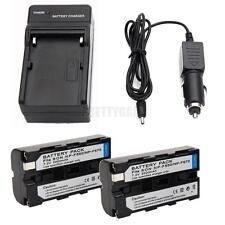 2pcs NP-F550 NPF550 Li-ion Battery + Charger for Sony Digital8 DCR-TRV120 TRV110