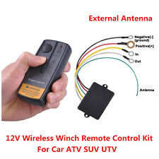 12V 65ft Wireless Winch Remote Control Kit for Off-road Truck SUV ATV UTV 1Pcs