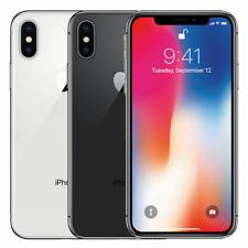 Apple iPhone X Verizon 64GB 256GB GSM Desbloqueado-Mobile T AT&T LTE 4G Prata Cinza