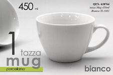 TAZZA DA LATTE MUG COLAZIONE BIANCA PORCELLANA 450ML QEX 628764
