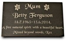 Personalised Engraved Slate Stone Memorial Headstone Grave Marker Plaque Mum Nan
