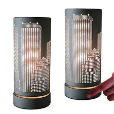 2 x METROPOLE dimmbare Tischleuchte  Nachttischlampe Touchfunktion Dimmerlampe