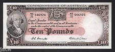 Australia R-62. (1954) Ten Pounds.. Coombs/Wilson - Commonwealth Bank.. gEF-aUNC