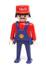 Playmobil Figure Vintage Shell Gas Service Station Attendant Mechanic 3437