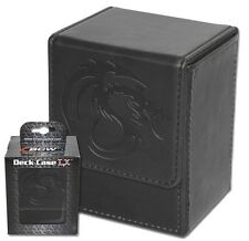 Black Leatherette Deck Box with 80 Double Matte Guard Sleeves Protector