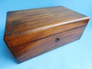 B3 Antique Australian Cedar? Hardwood  Jewelry Box 1900s Dovetail Joinery