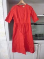 LINDY BOP RED 'ARLENE' CASUAL DAY DRESS - VINTAGE STYLE - SIZE 10 - BNWT