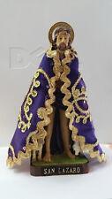 """San Lazaro Statue Saint con capita 9"""" tall"""