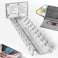 TunePhonik Clear Acrylic 10 Slot Cassette Tape Storage Case Organizer