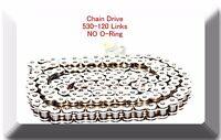 (No-Ring) Drive Chain Chrome Plated 530 x120 Link For Suzuki GSXR 1000 GSX-R750
