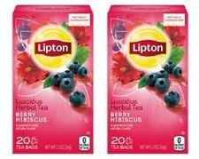 Lipton Tea Berry Hibiscus Tea Bags 2 Box Pack