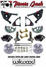 1967 68 69 GM F-Body Disc Brake Kit Tubular Control Arms Wilwood Black Calipers