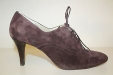 Talbots Brown Suede Leather Cap Toe High Heel Lace Up Oxford Shoes Womens Sz 10B