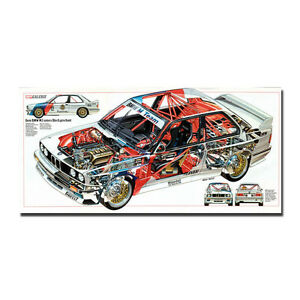 BMW - M3 E30 Series Super Racing Car Art Silk Poster Wall Print 13x27 24x50 inch