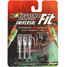 Rage NockTurnal Universal Fit Strobing Lighted Nock RedGreen 3pk H S GT X #01183