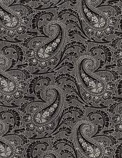 Fabric 100 Cotton Timeless Tuxedo Paisley Noir C4784