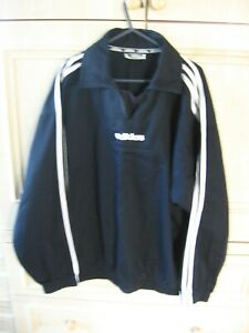 """MENS """"ADIDAS"""" TOP WITH COLLAR, BLACK SIZE 38/40"""